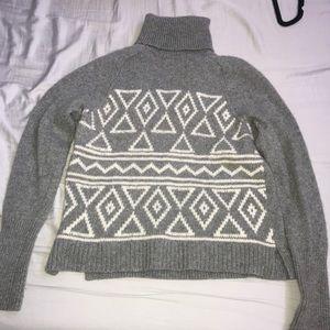 J Crew fair isle turtleneck sweater